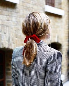 red velvet hair bow
