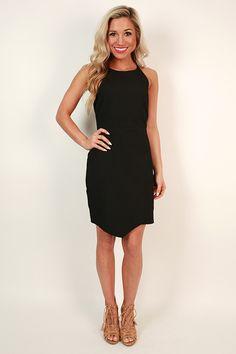 Made Ya Smile Dress in Black