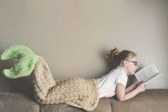 Crochet Pattern for Mermaid Tail Blanket by crochetbyjennifer