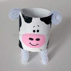 Cardboard Tube Cow: The Farm Series - Crafts by Amanda