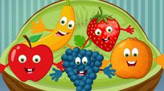 "Lyrics of the rhyme: ""Five little fruits jumping on the bed One fell off and bumped his head Momma called the doctor and the doctor said No more fruits jumpi. Baby Activity Toys, Rhyming Activities, Infant Activities, Rhymes For Babies, Kids Nursery Rhymes, Fruit Song, Rhymes Video, Fruits For Kids, Kids Poems"