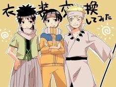 Ashura, Hashirama, and Naruto switch clothes.