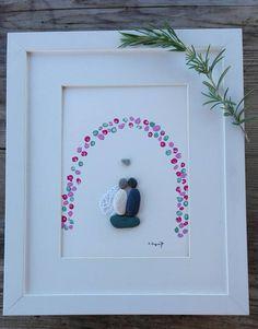 Pebble art wedding Wedding couple Weddings Anniversary