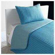 KARIT tek kişilik yatak örtüsü seti, turkuaz