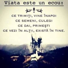 Numai cind înțelegi aceasta regula universala, începi sa iti privești viata dintr-o alta perspectiva. Lecția care am învățat-o la Academia Romană de Coaching. Spiritual Quotes, Positive Quotes, Motivational Quotes, Inspirational Quotes, Quotes To Live By, Life Quotes, True Words, Messages, Christian Quotes