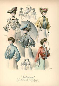[De Gracieuse] Zomertailles en blouses (June 1902)