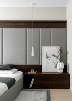 bedroom Interior Architecture, Interior Design, Bed Back, Contemporary Bedroom, Floating Nightstand, Places, Wall, Furniture, Home Decor