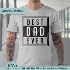 Father's Day T Shirts, Dad To Be Shirts, Vinyl Designs, Shirt Designs, Sublime Shirt, Cut Canvas, Vinyl Shirts, Silhouette Png, Silhouette Studio