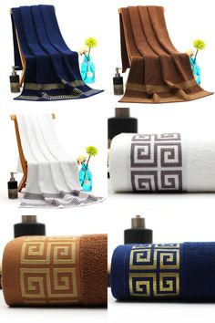 [Visit to Buy] 70*140cm Embroidered Cotton Bath Towels for Adults,Elegant Beach Bath Towels Bathroom,Big Terry Towels Large,Toallas de Bano #Advertisement