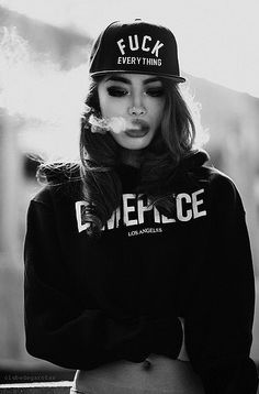 Kiss me with your eyes - Gangsta girl - Gangsta Girl, Fille Gangsta, Hip Hop Fashion, Look Fashion, Urban Fashion, Swag Fashion, Street Fashion, Fall Fashion, Lolita Fashion