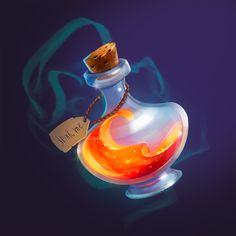 Magic Bottles, Potion Bottle, Game Icon, Game Art, Cartoon, Illustration, Artwork, Work Of Art, Auguste Rodin Artwork