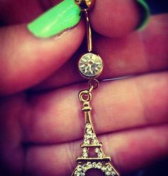 Paris belly button ring! I want this when [ and if ] I get my belly button pierced because I'm French