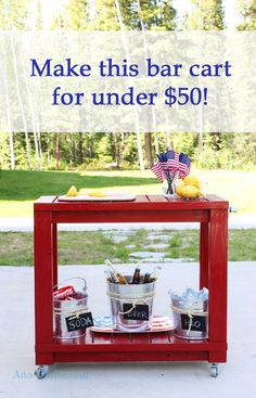 Ana White | Simple Rolling Bar Cart - DIY Projects