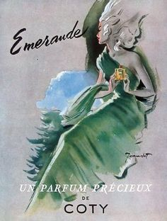 Emeraude Ad, love the art work.  I used to wear this perfume years and years ago, and the vintage perfume smelled so much better than what is available now.