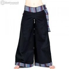 189dacdd27 Pantalon ethnique en velours à pattes d'éph. Ce pantalon de style hippie à