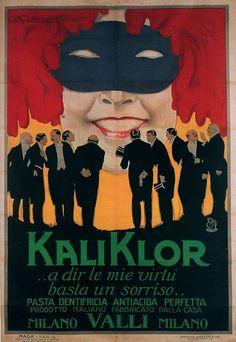 achille mauzan   Achille Luciano Mauzan e Agenzia MAGA, KaliKlor toothpaste,1921 (by ...