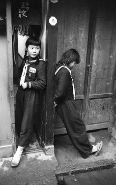 Schoolgirls. November, 1957. Japan