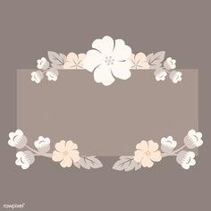Rectangle beige floral border vector | free image by rawpixel.com / Kappy Kappy Vintage Flowers Wallpaper, Flower Background Wallpaper, Framed Wallpaper, Cute Wallpaper Backgrounds, Flower Backgrounds, Cute Wallpapers, Iphone Wallpaper, Japanese Blossom, Floral Logo