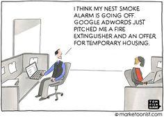 I think my Nest smoke alarm is going off. Internet Marketing, Social Media Marketing, Digital Marketing, Inbound Marketing, Marketing Ideas, Future Of Marketing, Temporary Housing, My Nest, Tech Humor