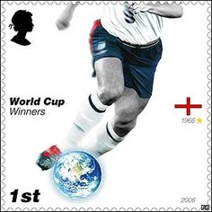 England Postage Stamps   ... sole World Cup success in 1966 is celebrated on the first-class stamp