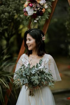 A Cosy Floral Wedding at Rowan & Parsley Food Atelier, Johor - The Wedding Notebook magazine Bridal Bouquets, Bridal Gowns, Wedding Dresses, Wedding Bands, Our Wedding, Wedding Notebook, Rustic Theme, Wedding Ceremony Decorations, Photography And Videography