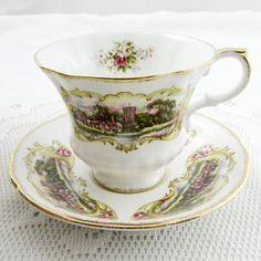 Paragon Tea Cup and Saucer, Chippendale Pattern A, Bone China, Vintage Tea Cup and Saucer