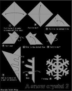 - Image – Image – - Easy Origami (Dover Origami Papercraft)over 30 simple projects Origami Fun Kit for Beginners (Dover Fun Kits) Animal Origami for the Enthusiast: Step-by-Step Instructions in Over . Paper Christmas Decorations, Snowflake Decorations, Christmas Crafts For Kids, Xmas Crafts, Christmas Diy, Paper Crafts, Paper Snowflake Patterns, Snowflake Template, Snowflake Craft