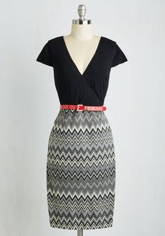 Peace and Client Dress in Chevron From the Plus Size Fashion Community at www.VintageandCurvy.com