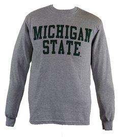 Michigan State Gray Long Sleeve T-shirt
