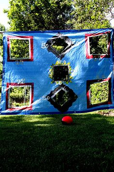 The tarp game - easy to make and lots of fun to play