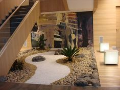 15 Popular Indoor Rock Garden For Your Home - The concept of rock garden invites us to explore and design small gardens with a large and small rocks garden Jardim Zen Interior, Interior Garden, Indoor Zen Garden, Balcony Garden, Garden Web, Dry Garden, Small Gardens, Outdoor Gardens, Zen Gardens