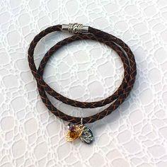 Leather Wrap Bracelet - Rich Brown