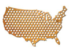 Beer Cap Map for the entire US. Fill it with all the best beers from across the nation.