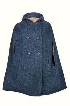 Navy Grace Hooded - Wrap yourself in the perfect wardrobe staple for Autumn through Spring, and add some swoosh to your strut. This luxurious vintage-style Navy cape in Harris Tweed is a timeless piece that will not go out of fashion. Vintage Style, Vintage Inspired, Vintage Fashion, Capes For Women, Perfect Wardrobe, Harris Tweed, Fashion Line, Wardrobe Staples, Stylish Outfits
