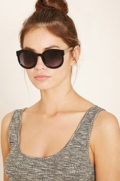 High-Shine Round Sunglasses