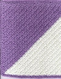 diagonal washcloth