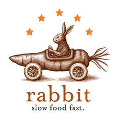 Rabbit Restaurant Logo Illustrated by Steven Noble on Pantone Canvas Gallery