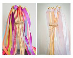 ribbon wands great for a ballerina or princess party or simply for a little girl who love's to twirl!