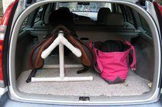 PVC saddle rack for