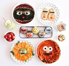 Sesame Street themed meal by (@meba_sj)