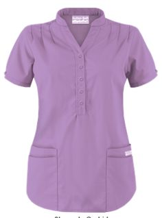 Butter-Soft Scrubs by UA™ Mandarin Collar 4-Pocket Top   If you're looking for a break from conventional scrubs, you can't go wrong with this mandarin collar scrub top! Style # UAT278C #UniformAdvantage #UAscrubs #ADayInScrubs #PurpleScrubs #FashionScrubs #ButterSoftScrubs