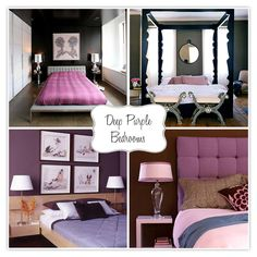 deep purple bedrooms