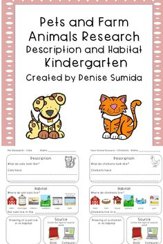 This beginning note taking lesson guides students to research the description and habitat of pets and farm animals. Pet note taking sheets include: Cats, Dogs, Ferrets, Hamsters, Birds, Fish, Rabbits, Turtles, Chameleons, Snakes, Mice, Frogs, Tarantulas, Snails, Newts, and Guinea Pigs. Farm Animal note taking sheets include: Cats, Dogs, Chickens, Cows, Donkeys, Goats, Horses, Pigs, Sheep, Rabbits, Turkeys, Ducks, Roosters, and Quails. A blank note taking sheet is also provided for…