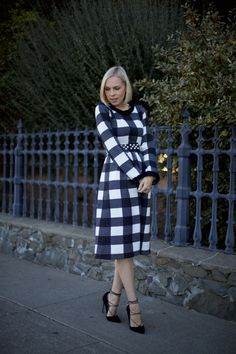 A review of Dainty Jewell's Gingham Sweater Dress by style blogger @lombardandfifth