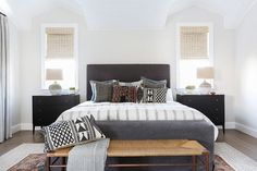 dormitorio con textiles etnicos