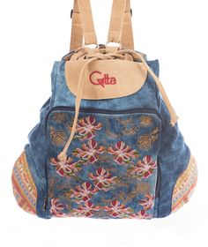 Gitta Embroidered Backpack Embroidery Techniques, Fashion Backpack, Textiles, Backpacks, Fabric, Bags, Products, Tejido, Handbags
