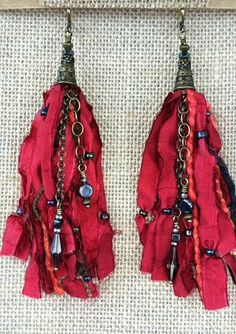 Red Signature Tassel Earrings $55.00 – Pure Awakened Energy