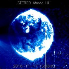 UFO sighting: NASA images show mystery Blue Sphere near sun : Fascinating images of a gigantic blue sphere near the Sun have been captured in the past week. One huge, blue sphere spotted in front of the Sun by Nasa cameras has immediately arrested ufologists. It was put up by Facebook user Pamela Johnson from …