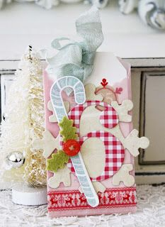I love the color of the candy cane and the ribbon!