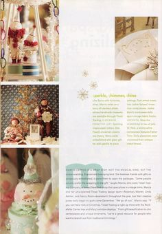 Out of Print Decorating - from Mary Engelbreit's Home Companion December 2006 & January 2007, featuring Tinsel Trading, Splendid Sparkle & Tantalizing Trims